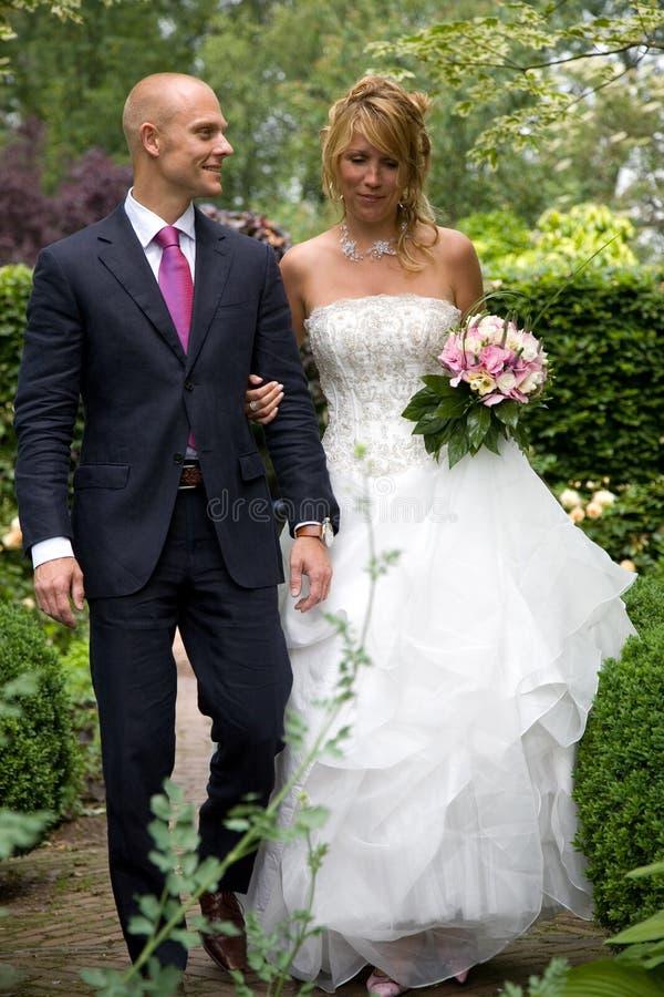 Ottenere sposato fotografia stock