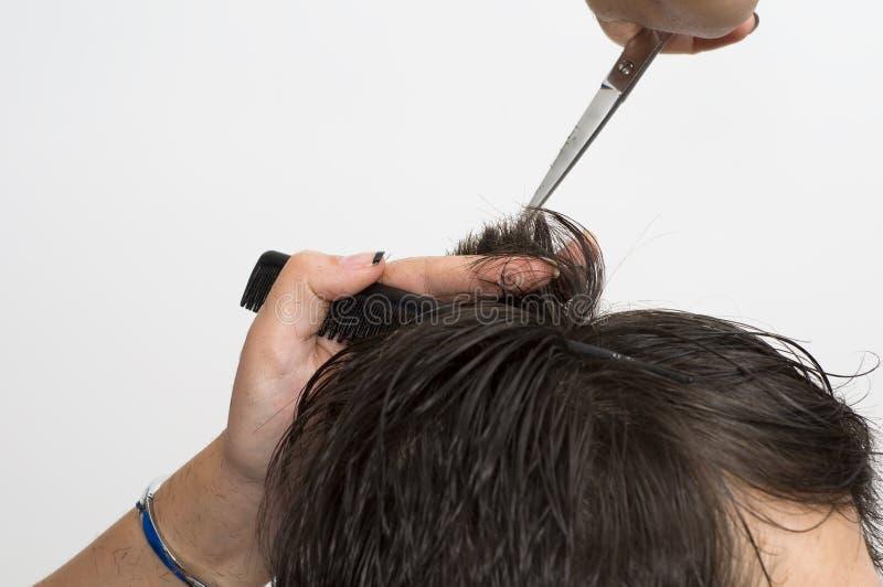 Ottenere taglio di capelli immagine stock libera da diritti