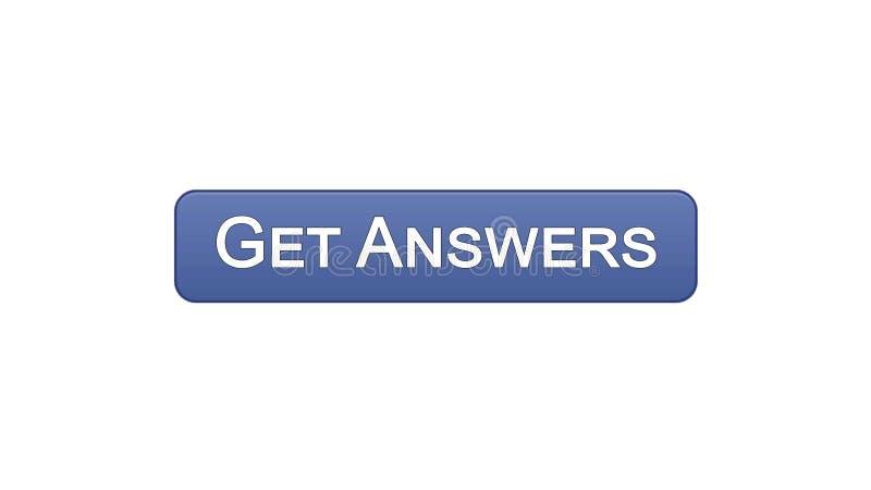 Ottenga a bottone dell'interfaccia di web di risposte il colore viola, la consultazione online, progettazione del sito illustrazione vettoriale