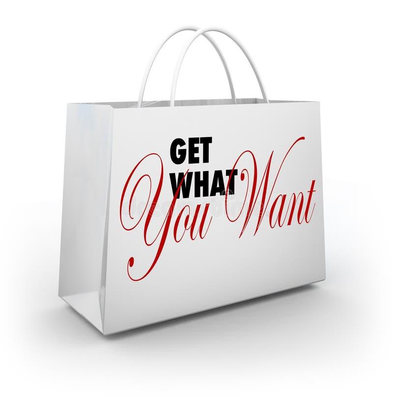 Ottenga che cosa volete il deposito di acquisto del sacchetto della spesa royalty illustrazione gratis