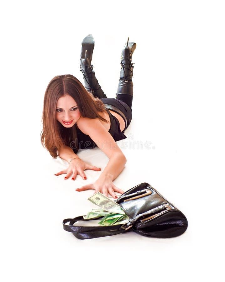 Ottenga i soldi fotografia stock