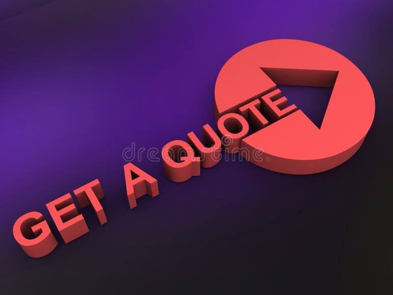 Ottenga un logo di citazione illustrazione vettoriale