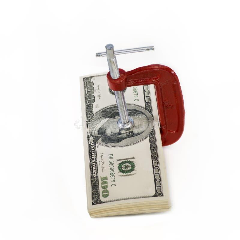 Ottenga una presa sul vostro benessere finanziario fotografia stock