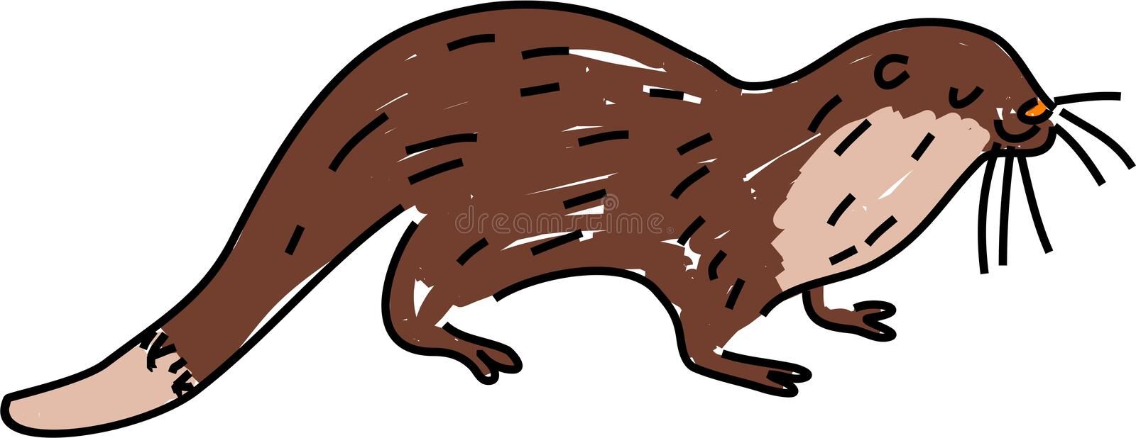 Download Otter stock illustration. Image of clipart, mammal, cartoon - 1813848