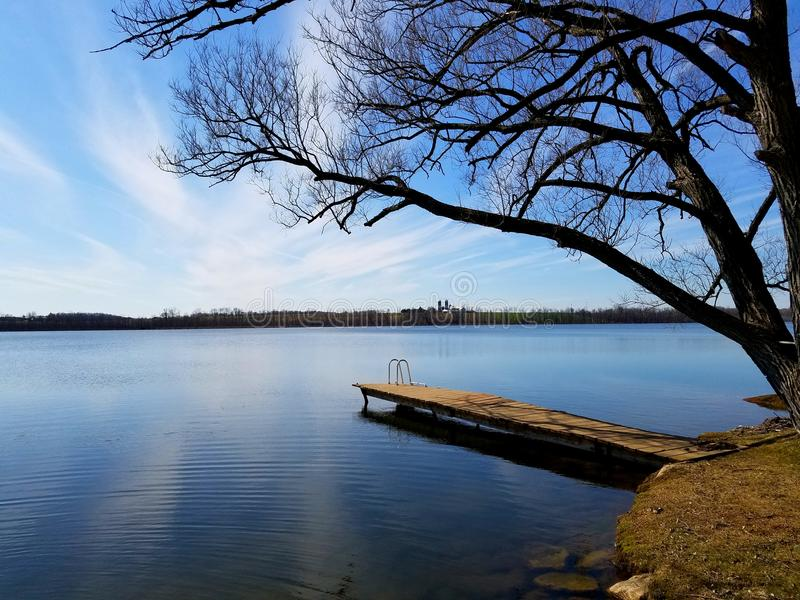 Otter Lake royalty free stock image