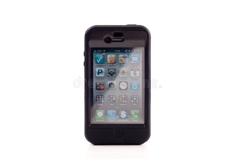 otterbox iphone 4 яблок стоковые фотографии rf