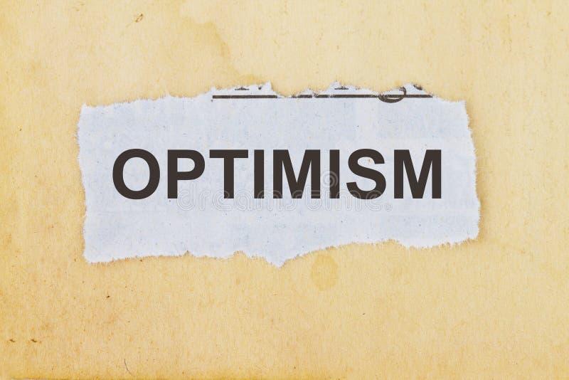 ottimismo immagine stock
