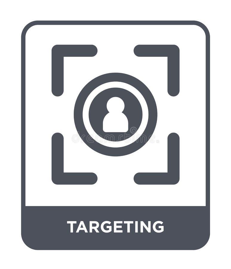 ottimizzazione dell'icona nello stile d'avanguardia di progettazione mirando all'icona isolata su fondo bianco mirando al piano s illustrazione di stock