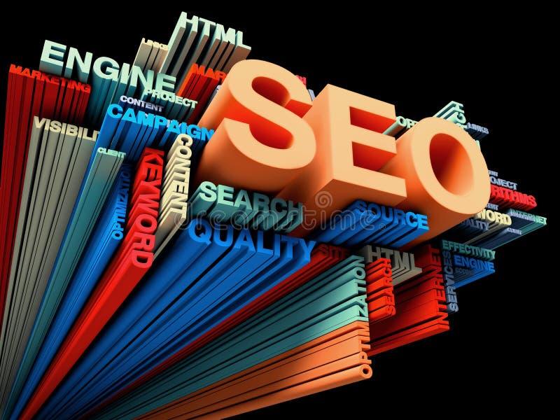 Ottimizzazione di Search Engine illustrazione di stock