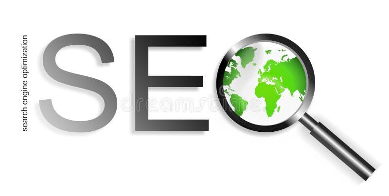 Ottimizzazione di Search Engine di SEO illustrazione vettoriale