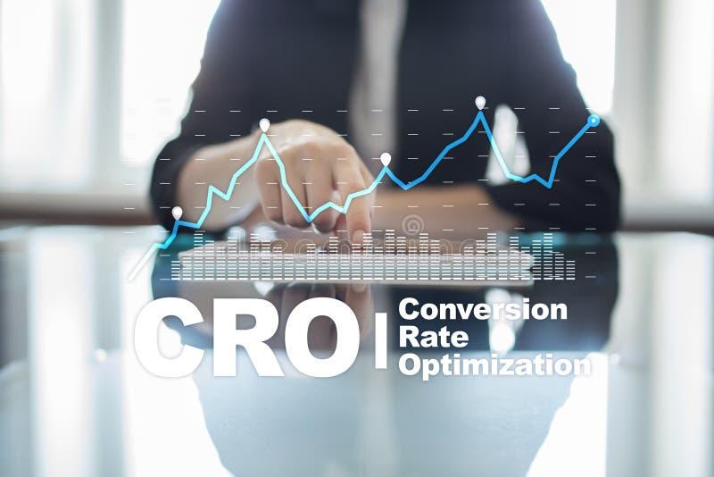 Ottimizzazione di tasso di conversione, concetto dell'ASS.COMM. e generazione del cavo fotografie stock libere da diritti