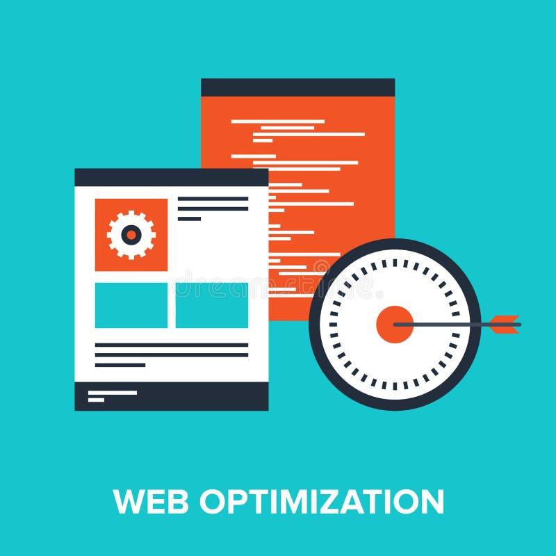 Ottimizzazione di web illustrazione vettoriale