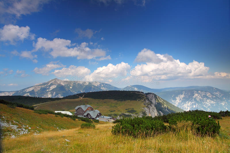 Otto mountain hut in Rax Alps royalty free stock image