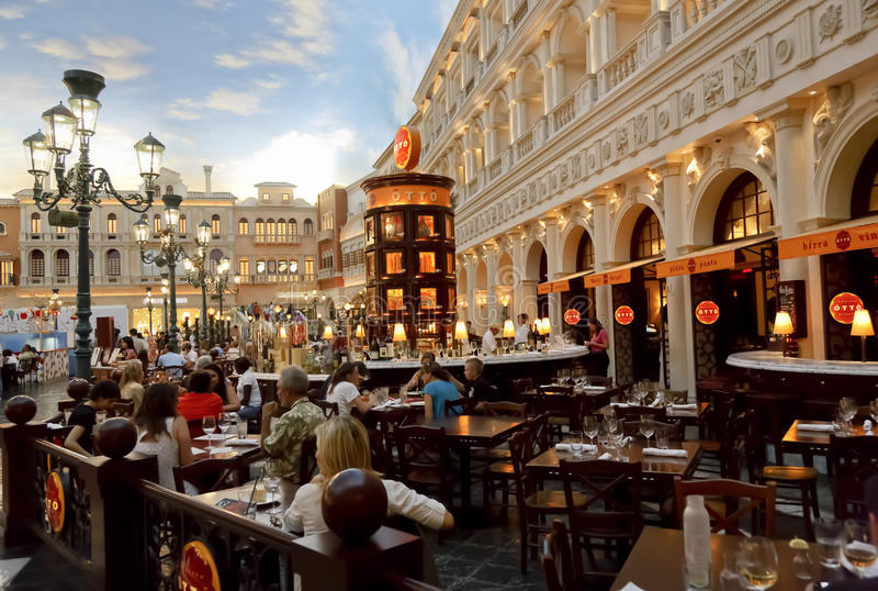 Otto Pizza Venetian Hotel stock images