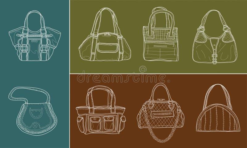 Download Otto sacchetti delle donne illustrazione vettoriale. Illustrazione di varietà - 3887461