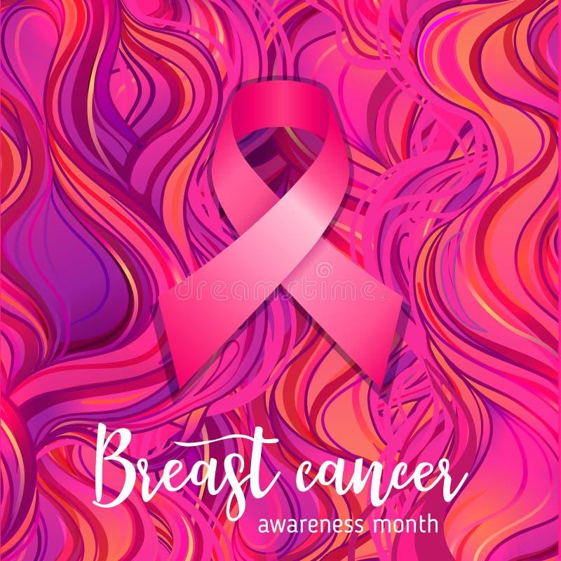 Ottobre: Mese di consapevolezza del cancro al seno, campagna annuale a incre illustrazione di stock