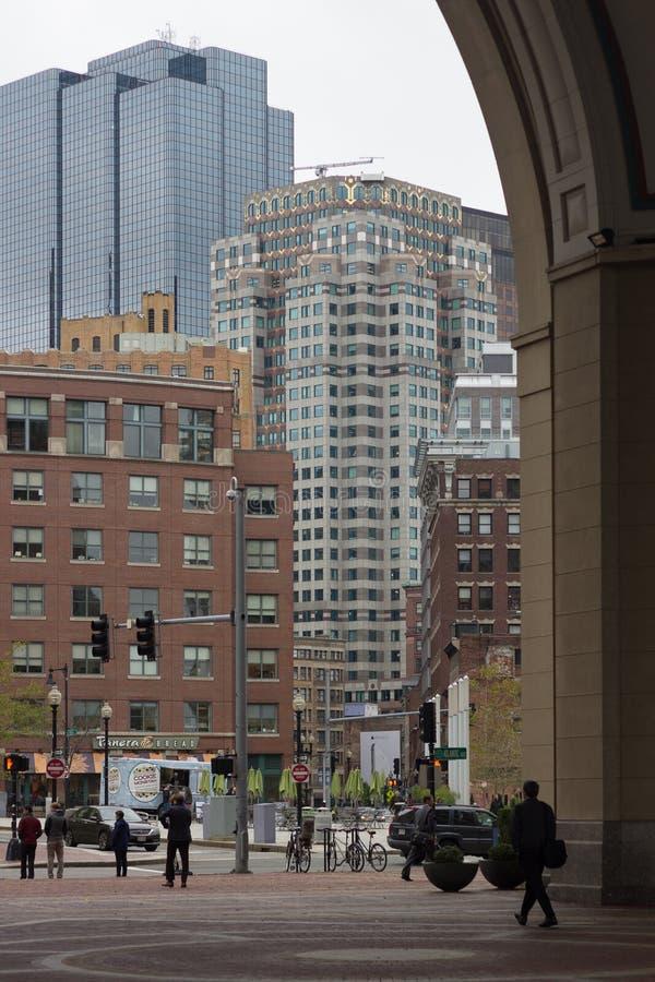24 ottobre 2014 - molo di Rowes, Boston Massachusetts, immagini stock