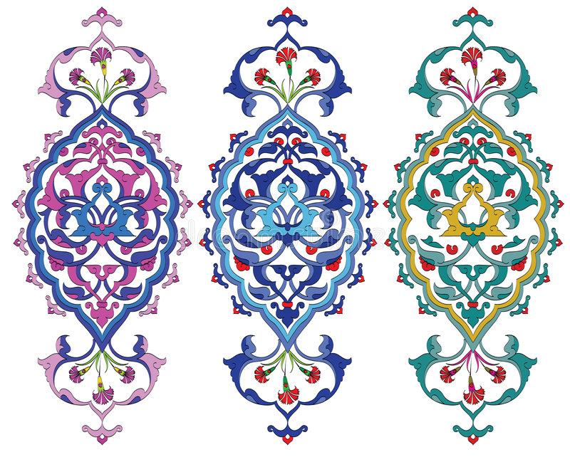 Ottoman design royalty free illustration