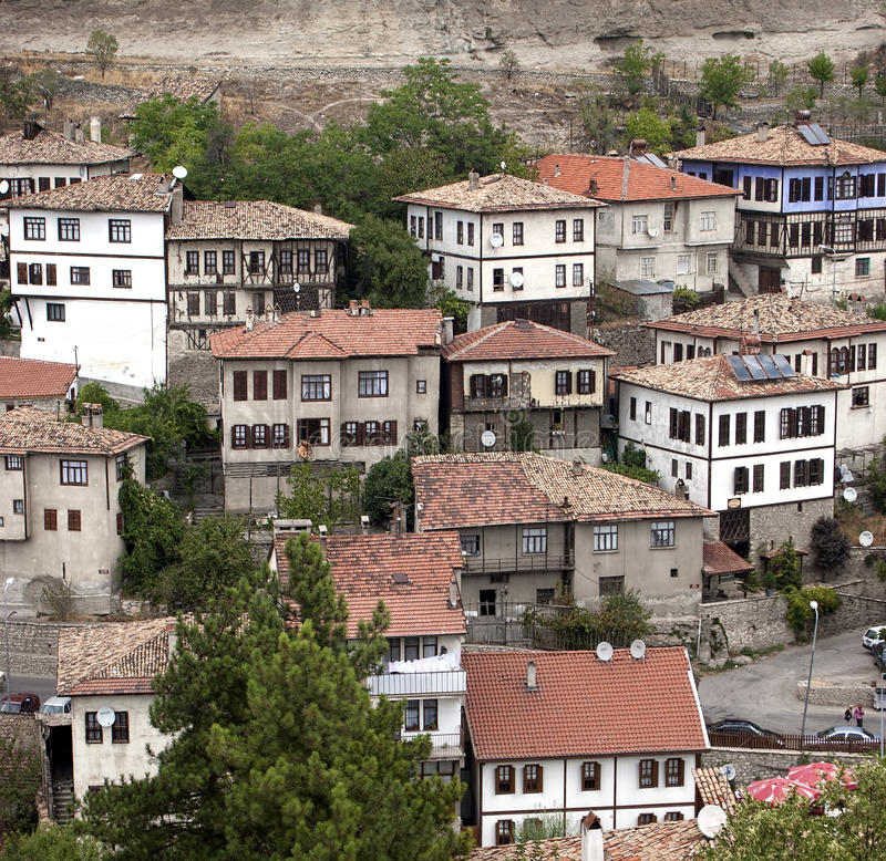 Ottoman architecture / Safranbolu. Ottoman homes from Safranbolu in Turkey royalty free stock photos