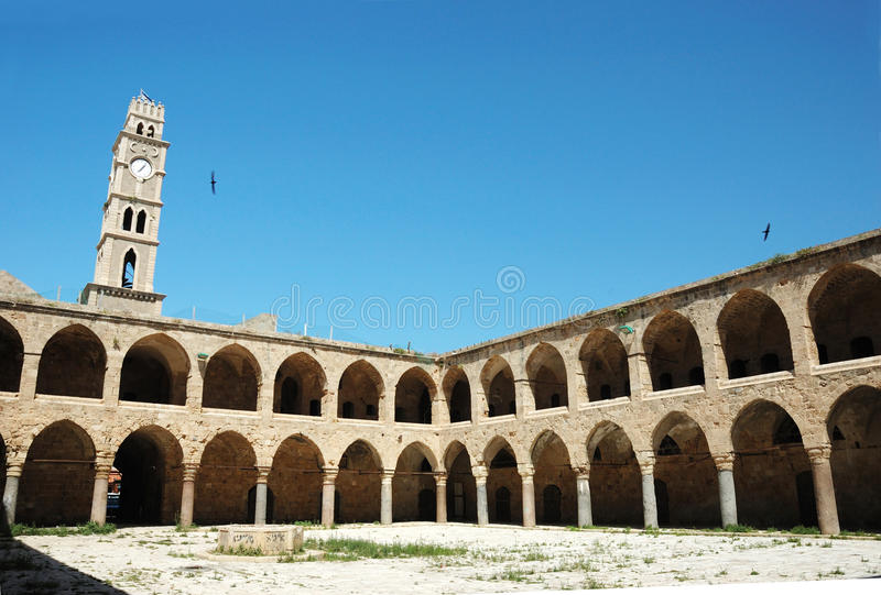 Ottoman landmark building in Akko, Israel stock photography