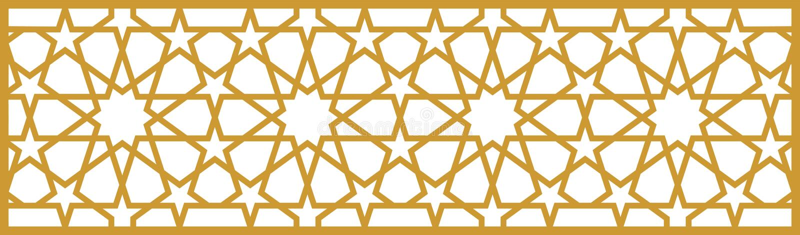 Ottoman pattern royalty free illustration