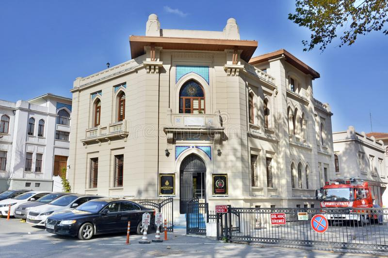 Ottoman Revivalist building now housing the Fatih fire station Itfaiye in Istanbul, Turkey. royalty free stock photo