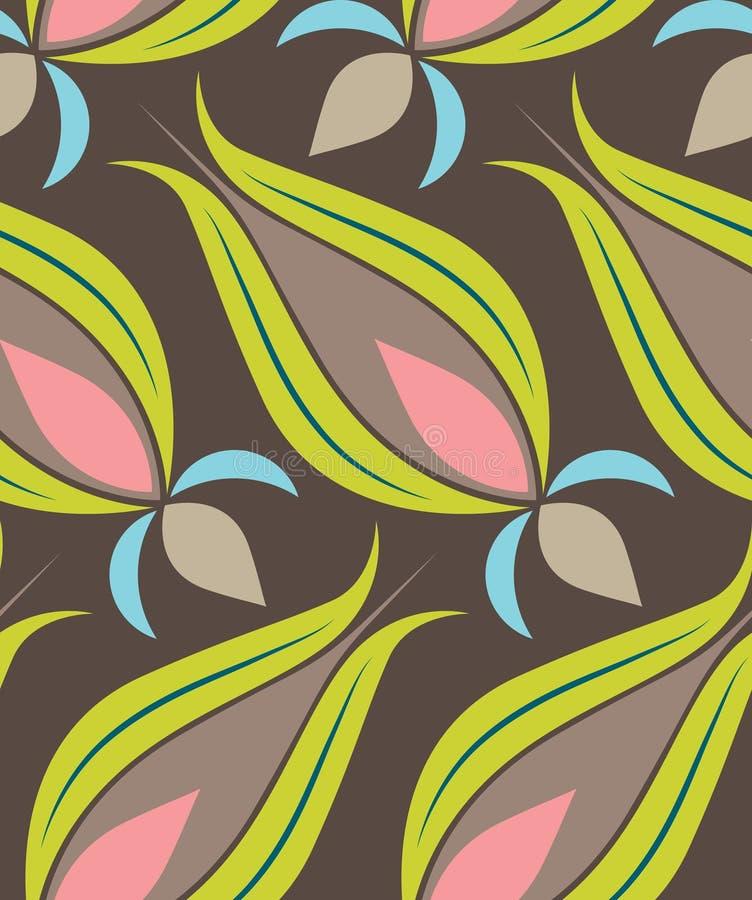 ottoman tulipan deseniowy seamsless ilustracji