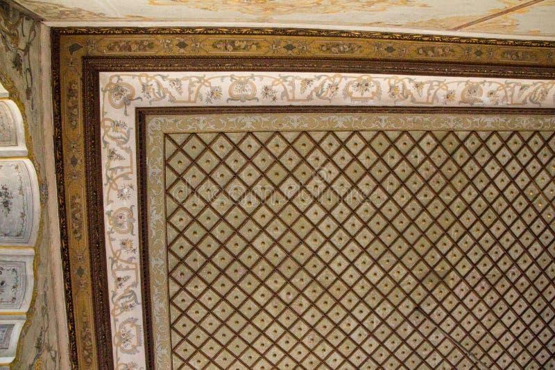 Ottoman Turkish art with geometric patterns stock images
