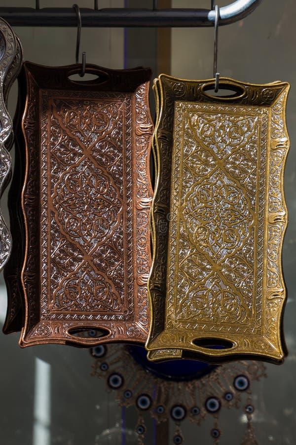 Ottoman Turkish Traditional Decorative Handmade Tray Stock Image