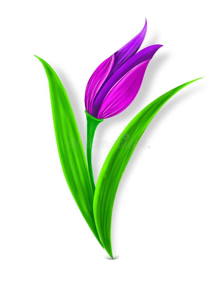 Ottomane Tulip Motif Illustration stock afbeeldingen