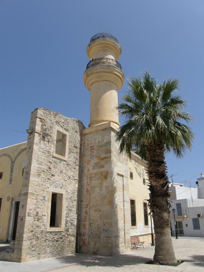 Ottomanemoskee in Ierapetra in Kreta, Griekenland stock afbeelding