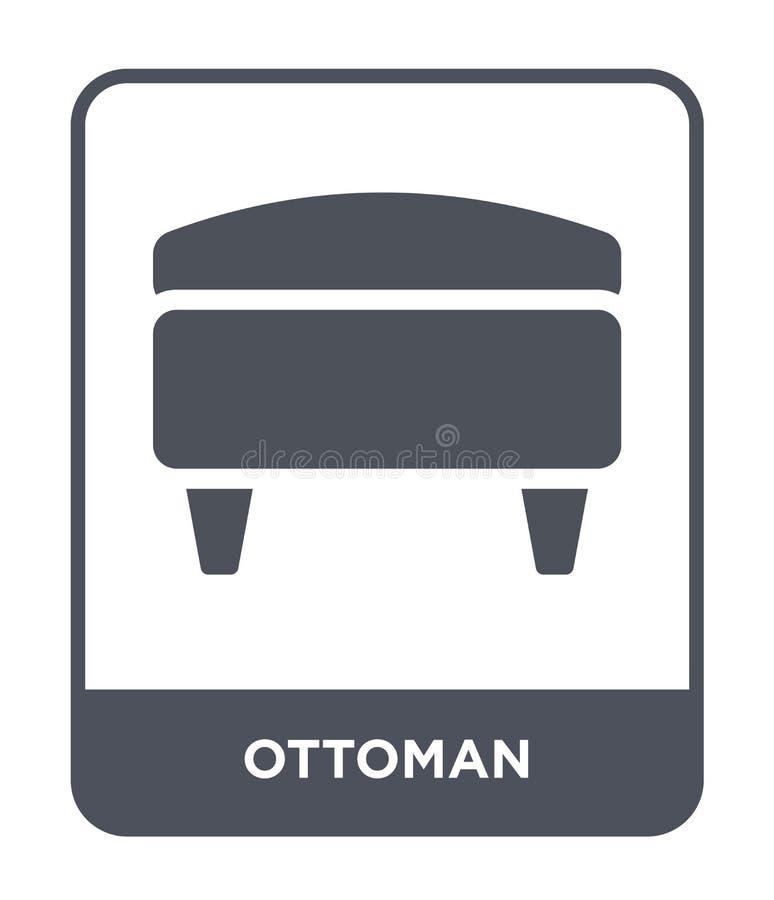 ottomansymbol i moderiktig designstil ottomansymbol som isoleras på vit bakgrund enkelt och modernt plant symbol för ottomanvekto stock illustrationer