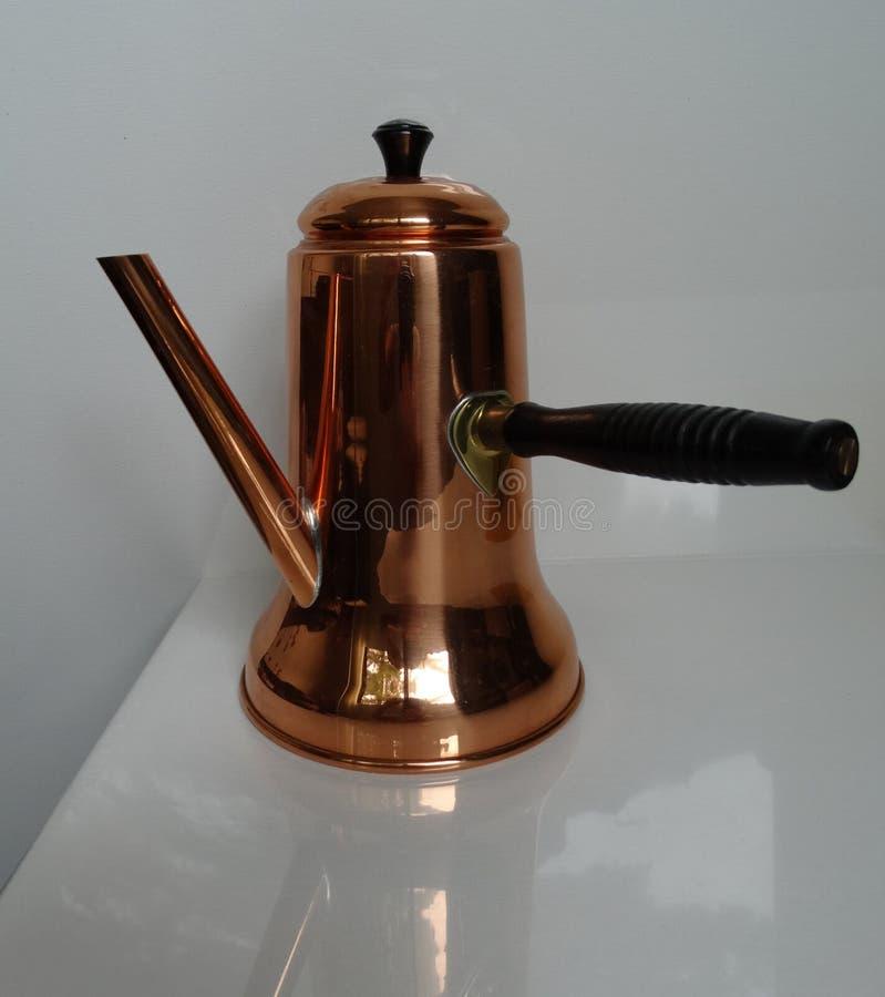Ottone di rame del vaso di Coffe immagine stock