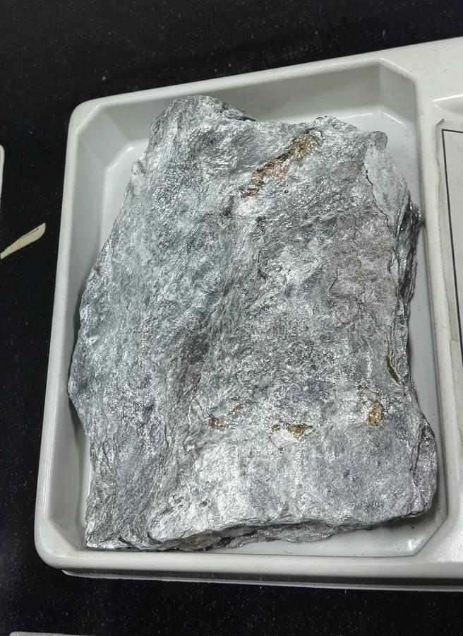Ottrelite nelle rocce sedimentarie della fillite fotografia stock libera da diritti