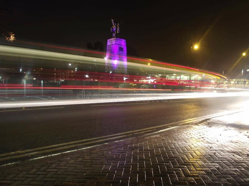 Otturatore lento del monumento di Stafford fotografie stock libere da diritti