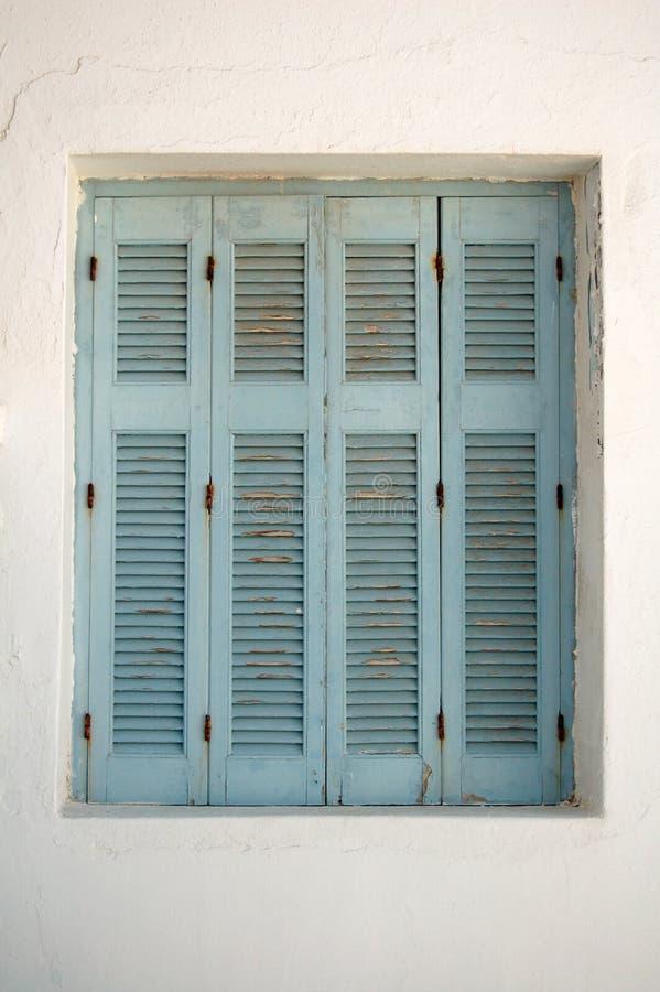 Otturatori greci della finestra fotografia stock
