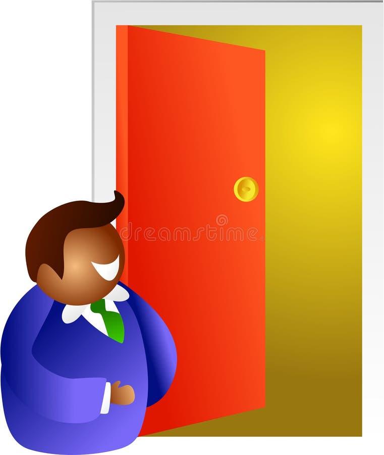 otwórz drzwi ilustracji