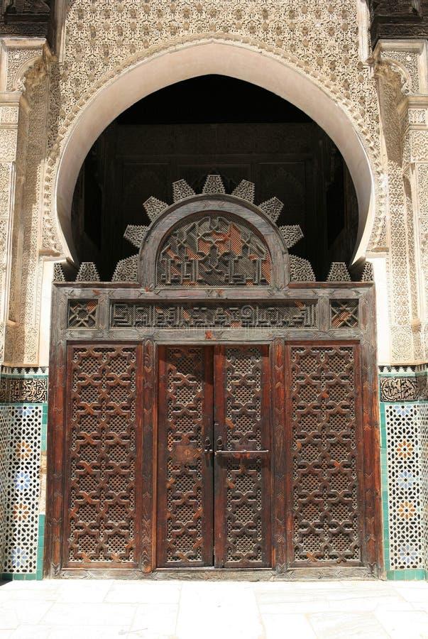 otwórz drzwi podwórzowy maroka fotografia royalty free