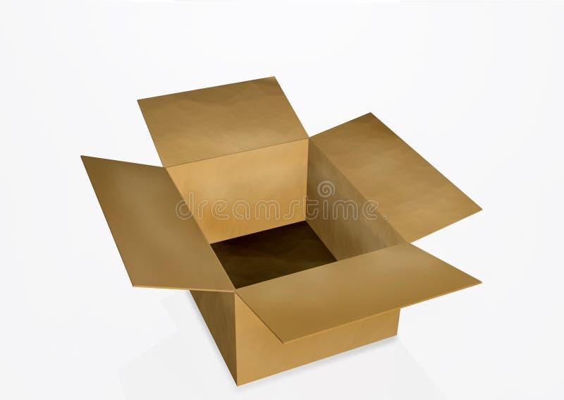 otwórz puste pudełko fotografia royalty free