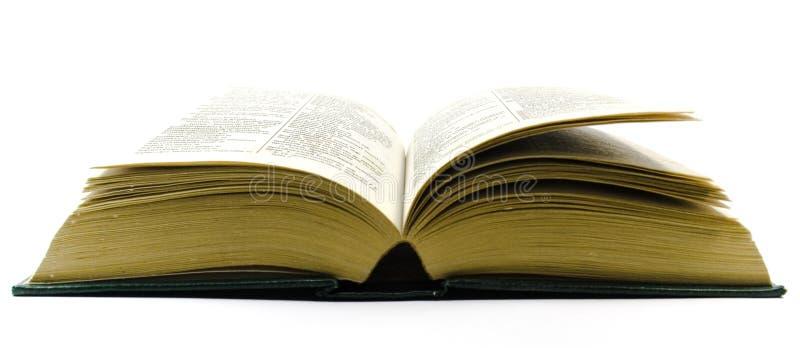 otwórz słownik stary zdjęcia royalty free