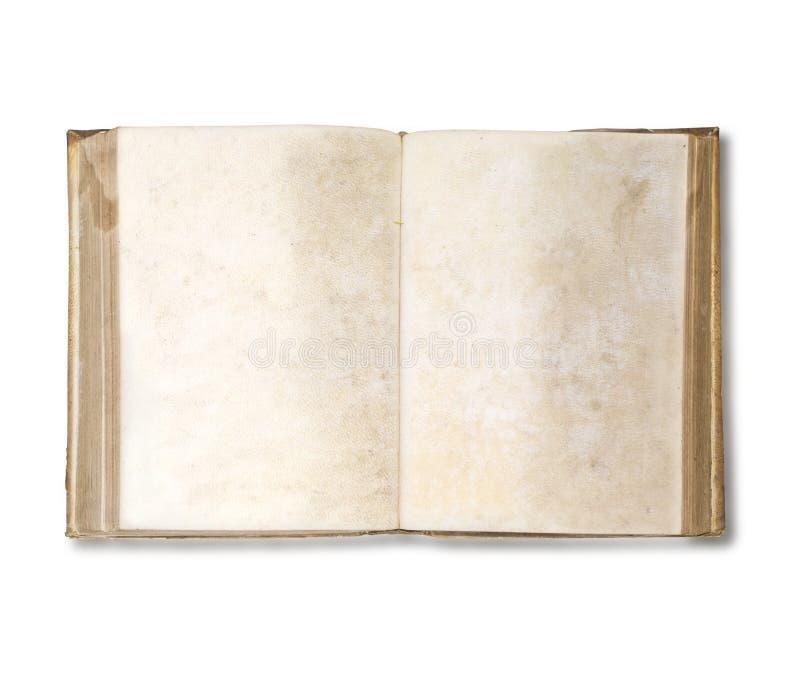 otwórz stara książka fotografia stock