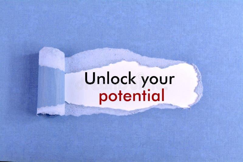 otwórz swój potencjał fotografia stock