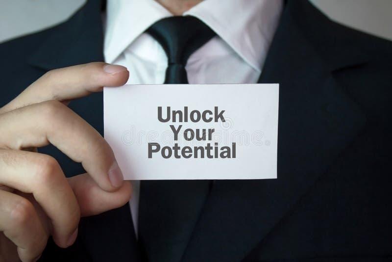otwórz swój potencjał zdjęcia stock