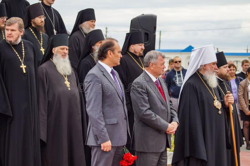Otwarć wydarzenia na cześć 536 th rocznicę wyzwolenie Rosja od Tatar jarzma w Kaluga regionie zdjęcia stock