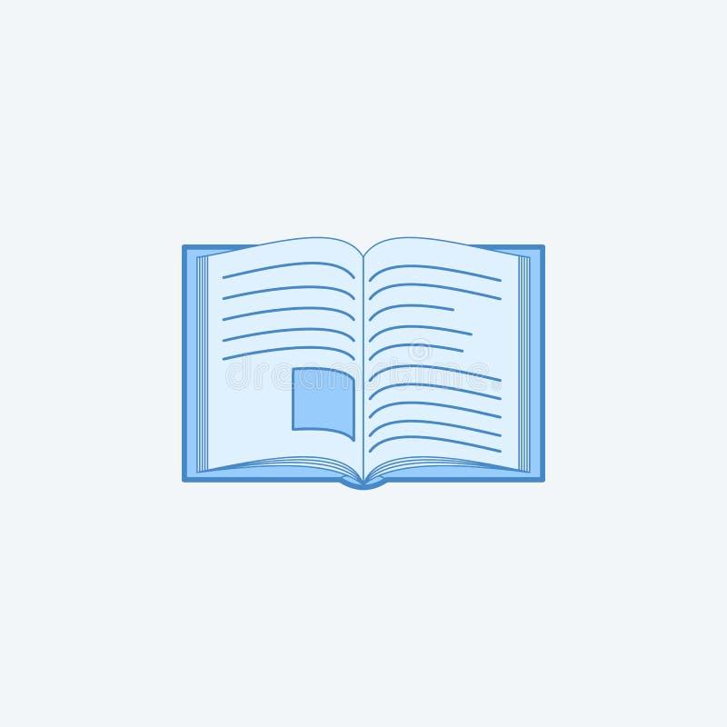 otwarci 2 książki barwiąca kreskowa ikona Prosty zmrok i bława element ilustracja otwarty książkowy pojęcie konturu symbolu proje ilustracja wektor