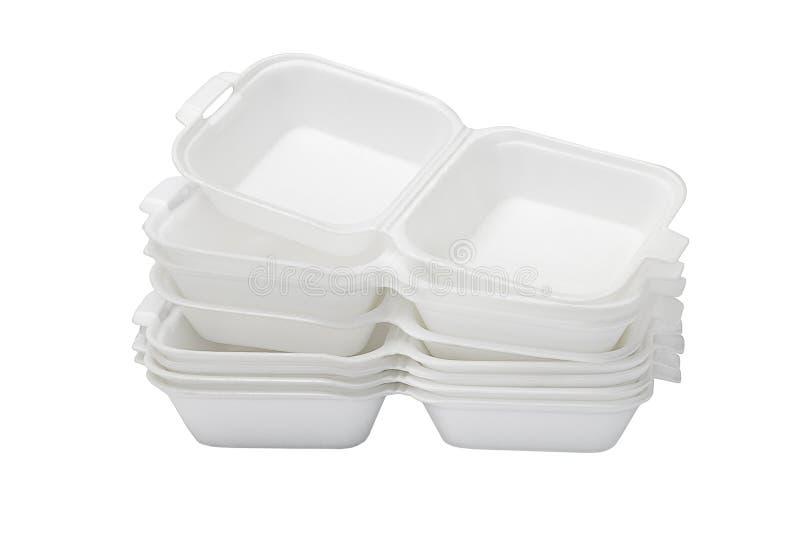 Otwarci Styrofoam pudełka fotografia royalty free