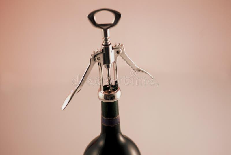 Download Otwarcie butelki wina zdjęcie stock. Obraz złożonej z napój - 131016