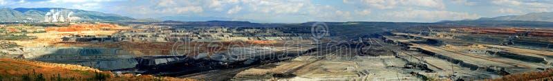 otwarta cięcie węglowa kopalnia fotografia stock