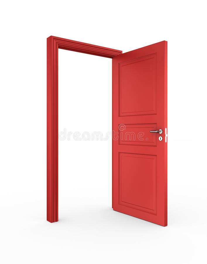 otwarta drzwi czerwień