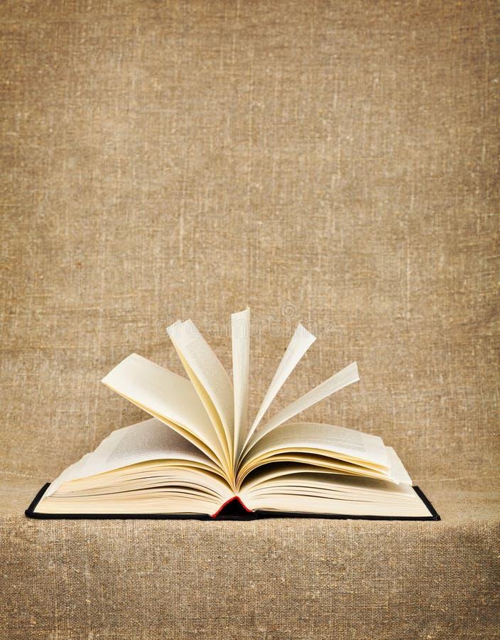 otwarta duży książkowa kanwa obrazy stock
